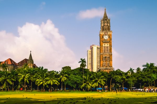 MUmbai - 20/09/2013: The Rajabai Clock Tower is a clock tower in South Mumbai India. It is near the Oval Maidan and Bombay High Court